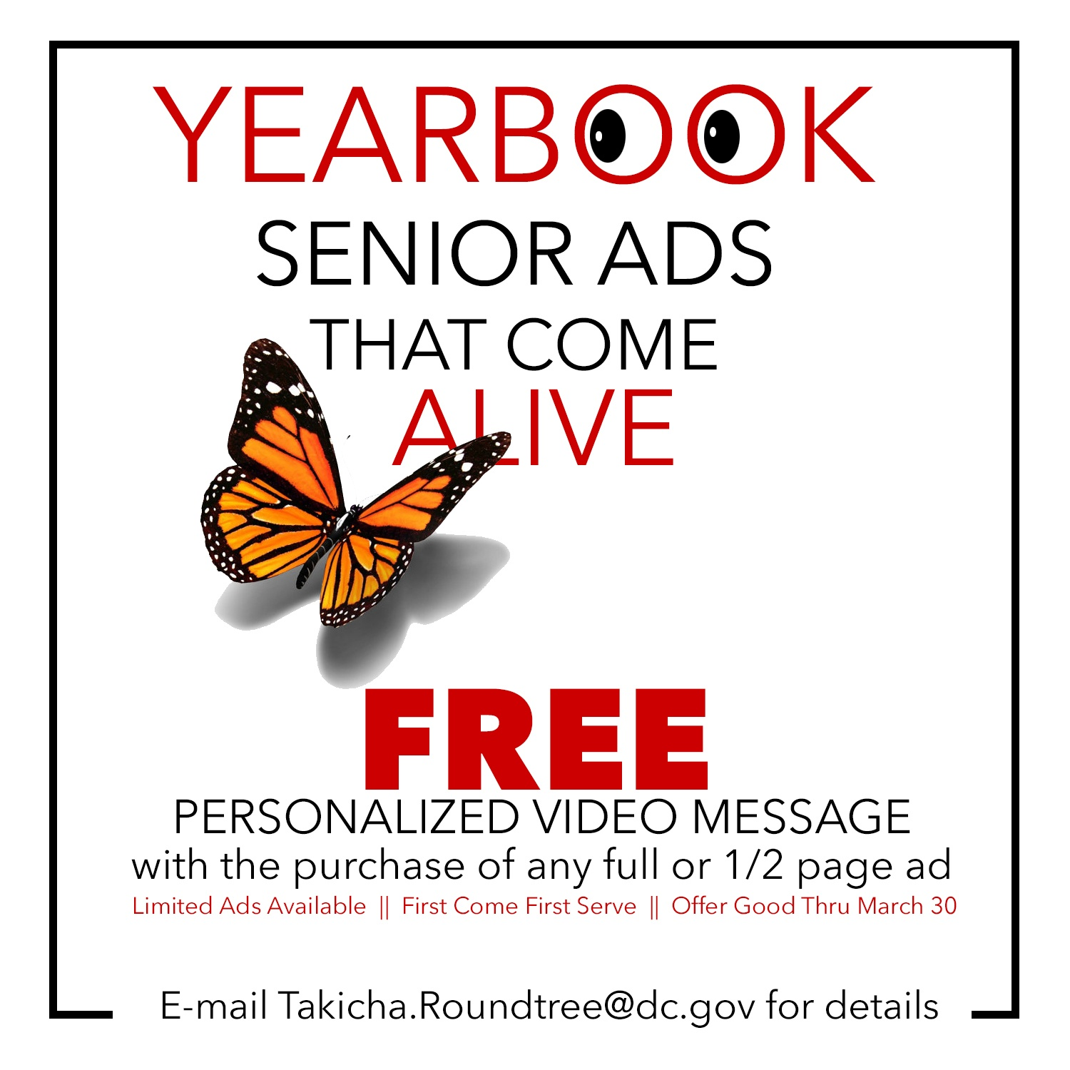 Yearbook Senior Ad Sale _free video Flyer