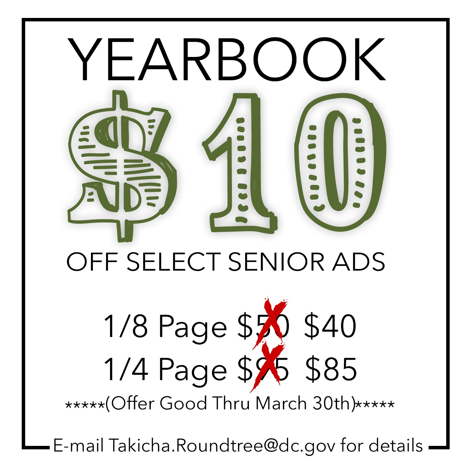 Yearbook Senior Ad Sale Flyer
