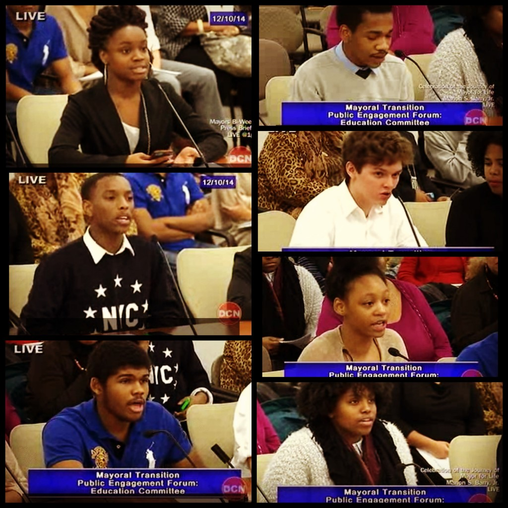 Students at MBowser Public Forum