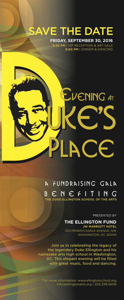 Evening at Duke's Place - Save the Date  - 2016.9