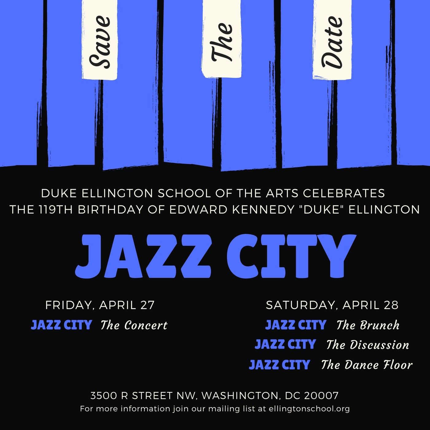 Jazz City Save The Date