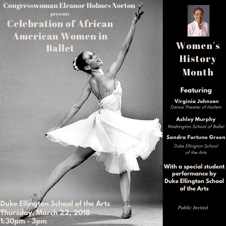 Celebration of African American Women in Ballet Flyer
