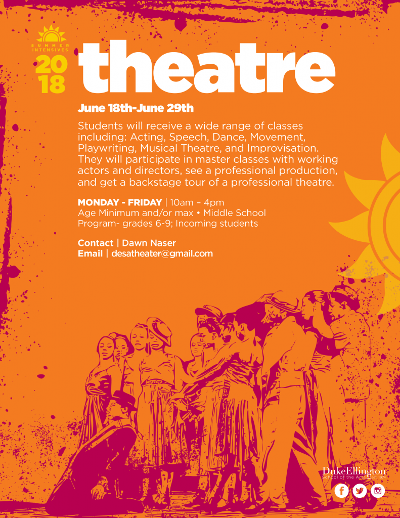 Summer Intensives Poster - Theatre