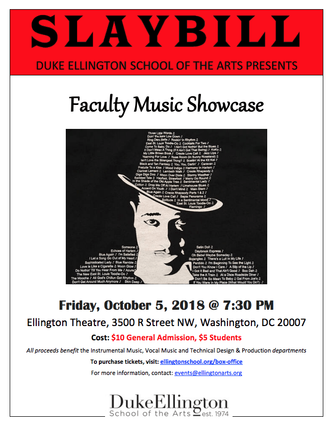 Faculty Music Showcase | Duke Ellington School of the Arts