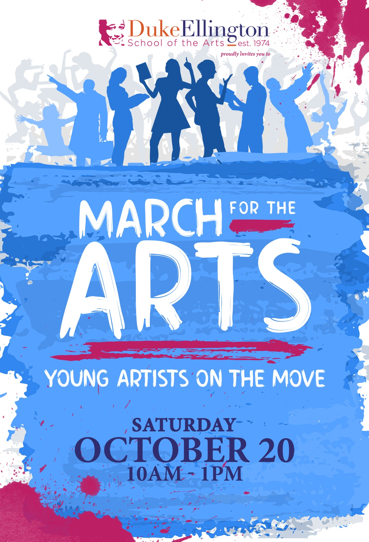 March for the Arts Postcard Front