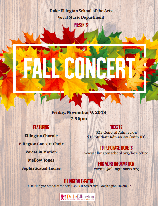 Vocal Music Fall Concert