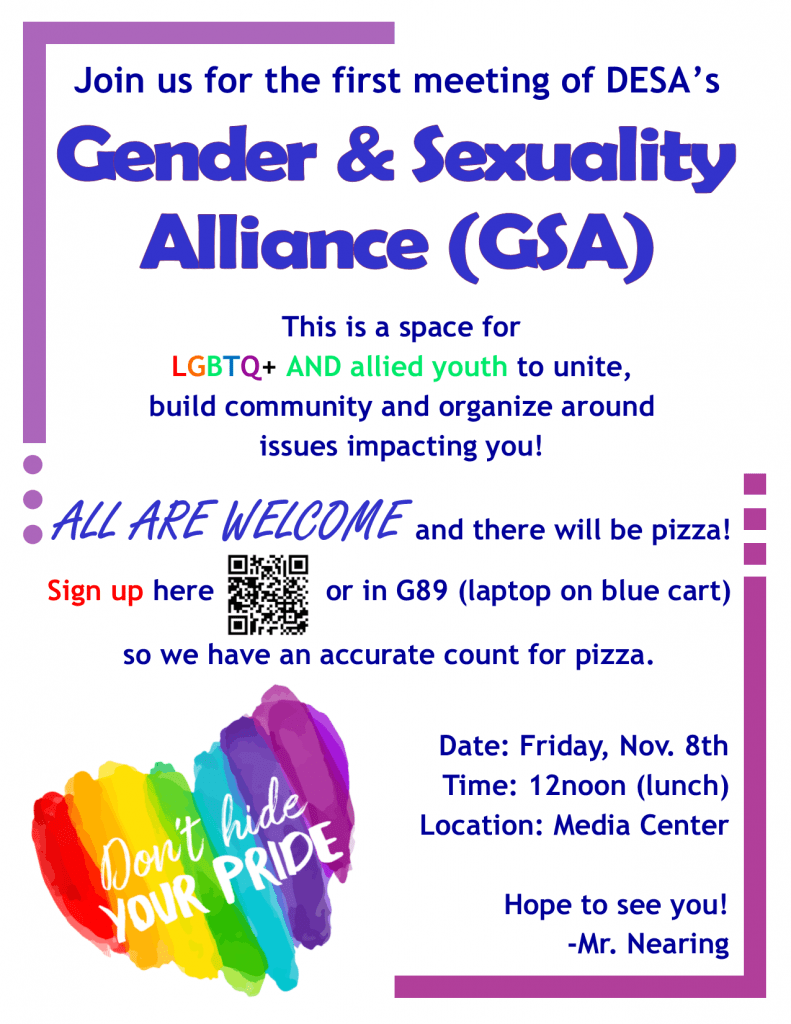 Gender & Sexuality Alliance - 2019.11